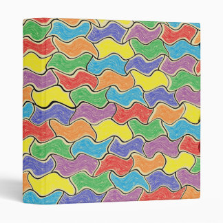 Colorful Fluctuations 3 Ring Binder