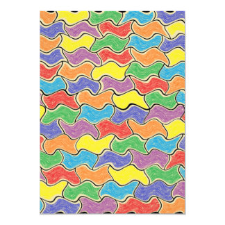 Colorful Fluctuations Card