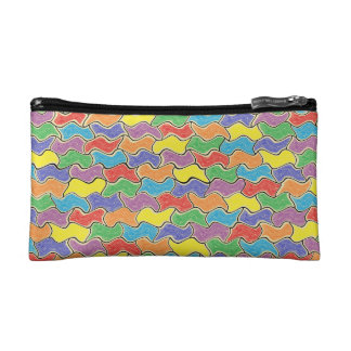 Colorful Fluctuations Cosmetic Bag