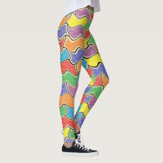 Colorful Fluctuations Leggings