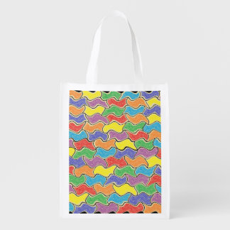 Colorful Fluctuations Reusable Grocery Bag