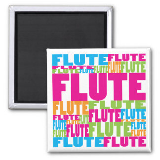 Colorful Flute 2 Inch Square Magnet