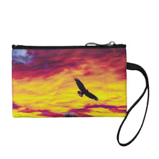Colorful Fly Bird Fly Key Coin Clutch