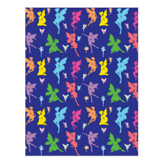 Colorful Flying Fairy Postcard