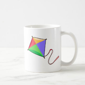 Colorful Flying Red, Yellow, Green, and Blue Kite Coffee Mug
