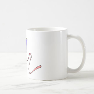 Colorful Flying Red, Yellow, Green, and Blue Kite Classic White Coffee Mug