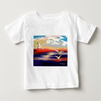 Colorful Flying Seagulls Shirt
