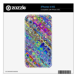 Colorful Foil Circles Decals For The iPhone 4S