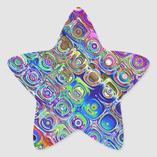 Colorful Foil Circles Star Stickers