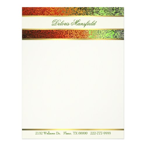 Colorful Foil Look Business Letterhead 2