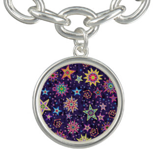 Colorful Folk Art Starry Sky Bracelet