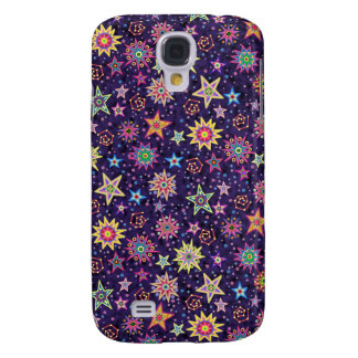 Colorful Folk Art Starry Sky Galaxy S4 Case