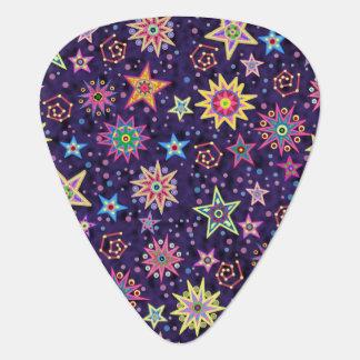Colorful Folk Art Starry Sky Pick