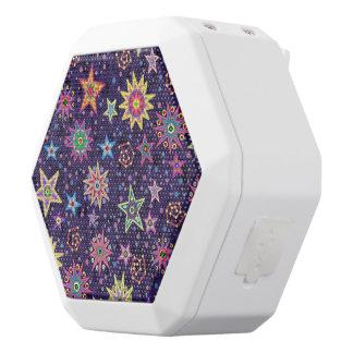 Colorful Folk Art Starry Sky White Bluetooth Speaker