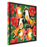 Colorful Folk Art Stretched Canvas Print