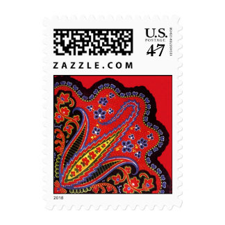 Colorful Folkart Style Paisley & Floral Stamps