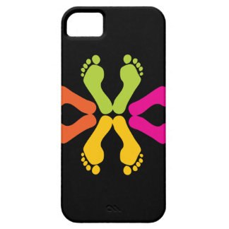 Colorful Foot Prints iPhone SE/5/5s Case