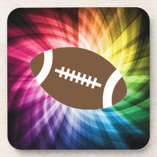 Colorful Football Beverage Coaster