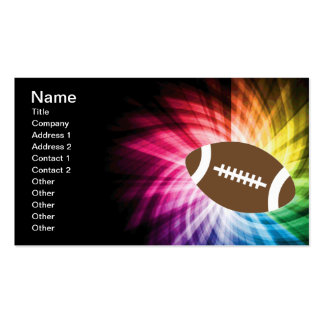 Colorful Football Double-Sided Standard Business Cards (Pack Of 100)