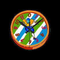 Colorful Football Clock wall clocks
