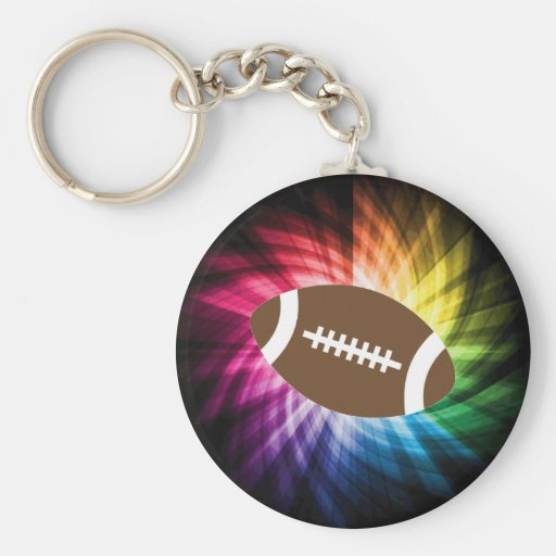 Colorful Football Key Chain