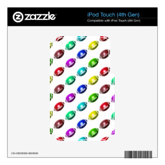 Colorful Football Pattern iPod Touch 4G Skin