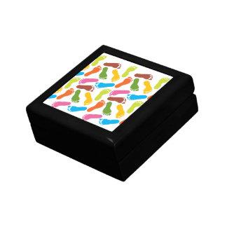 Colorful Footprints Gift Box