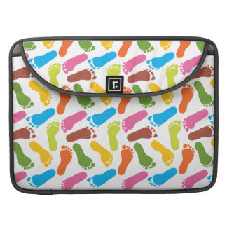 Colorful Footprints Sleeve For MacBook Pro