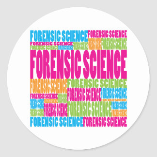 Colorful Forensic Science Classic Round Sticker