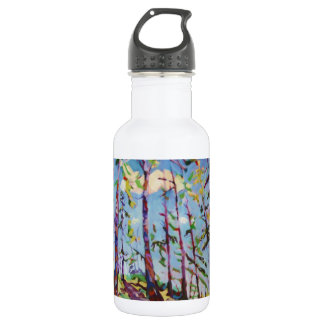 Colorful forest painting 18oz water bottle