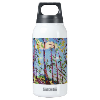 Colorful forest painting 10 oz insulated SIGG thermos water bottle