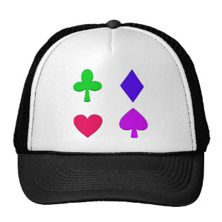 Colorful Four Card Suits Trucker Hat
