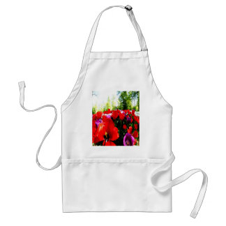 Colorful fowers and nature adult apron