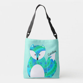 Colorful Fox All Over Print Tote