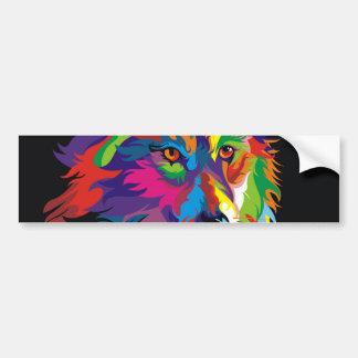 Colorful fox bumper sticker