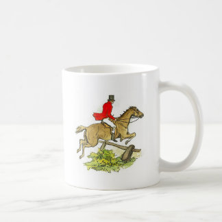 Colorful Fox Hunter Jumper Horse Horseback Rider Coffee Mug