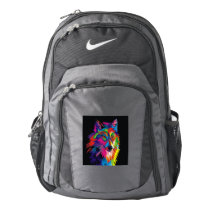 Colorful fox nike backpack