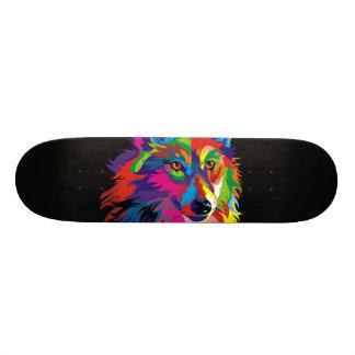 Colorful fox skateboard