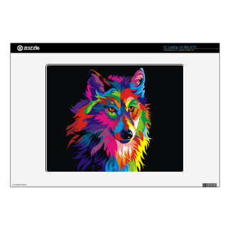 """Colorful fox skin for 12"""" laptop"""
