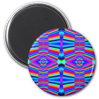 Colorful fractal 2 inch round magnet