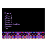 Colorful fractal abstract business card template