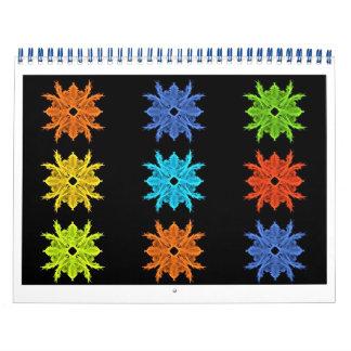 Colorful Fractal Art for Twelve Months Wall Calendars