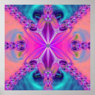 Colorful Fractal Artwork Poster