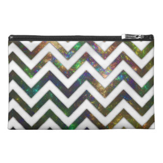 Colorful Fractal Chevron Travel Accessory Bag