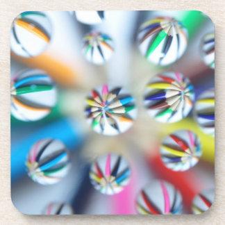 Colorful Fractal Digital Art Photography Pencil Drink Coaster