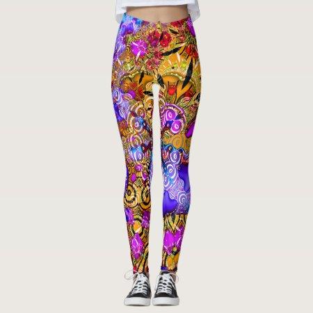 Colorful Fractal Hodgepodge Leggings