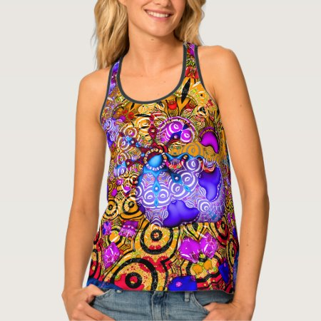 Colorful Fractal Hodgepodge Tank Top