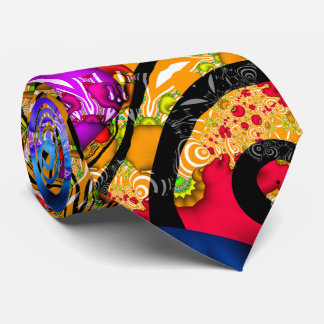 Colorful Fractal Hodgepodge Tie