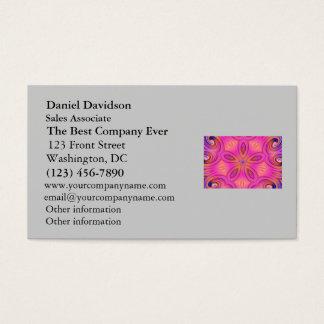 Colorful Fractal Kaleidoscope Flower Design Business Card