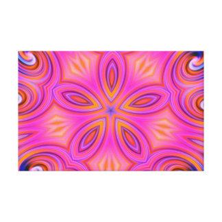 Colorful Fractal Kaleidoscope Flower Design Stretched Canvas Print